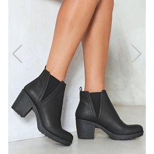 nasty gal ankle booties